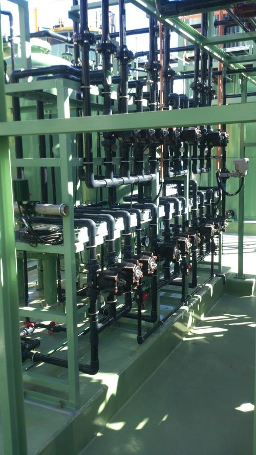 水処理ユニット HIVP配管